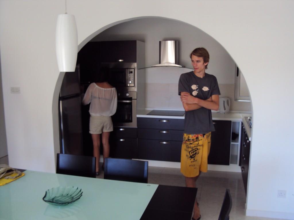 Jag och Emil i vårt kanske blivande kök!